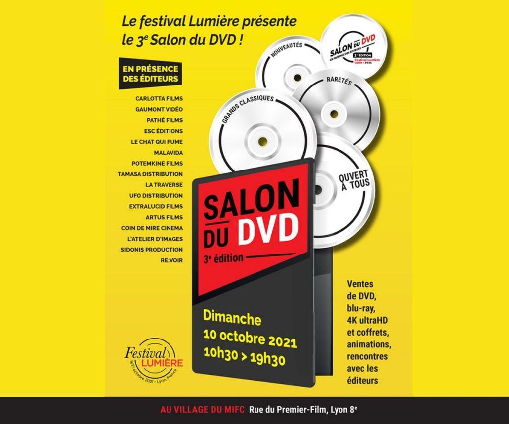 Affiche du 3ème salon du DVD dans le cadre du Festival Lumière